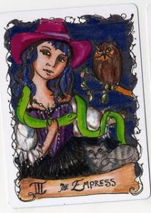 #3 The Empress from the All Hallows Deck