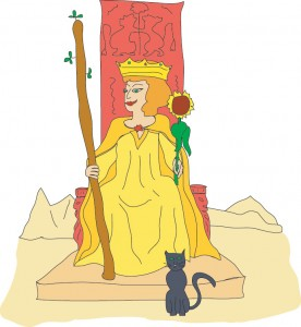 Queen of Wands from Georgie's Tarot