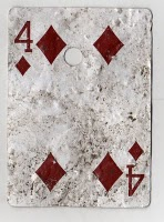 Four of Diamonds from Mean Jean's Found Deck
