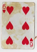 Six of Hearts from Mean Jean's Found Deck
