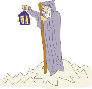 #9 - The Hermit from Gerogie's Tarot
