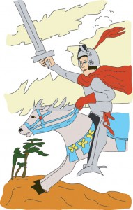 Prince of Swords from Georgie's Tarot