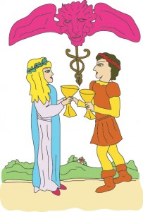 Two of Cups from Georgie's Tarot