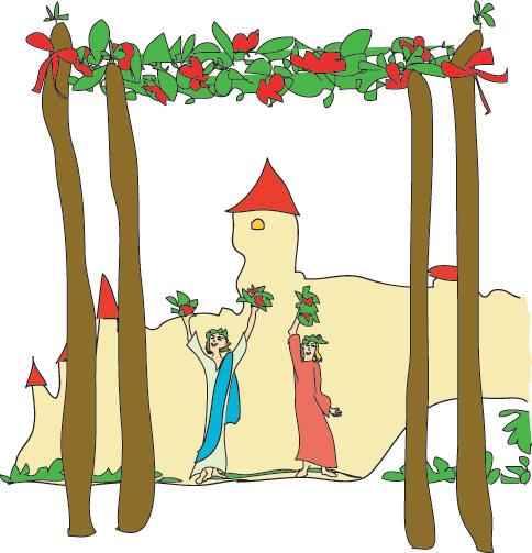 Four of Wands from Georgie's Tarot