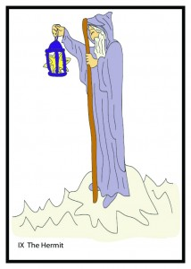 #9 The Hermit from Georgie's Tarot