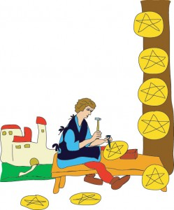 8 of Disks from Georgie's Tarot