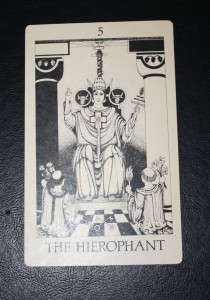#5 The Hierophant from Tarot of Initiation by Emmett Brennan