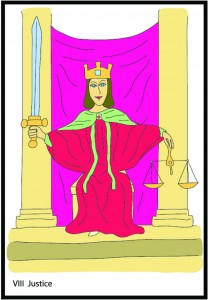 #8 Justice from Georgie's Tarot