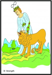 #11 Strength from Georgie's Tarot