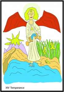 #14 Temperance from Georgie's Tarot