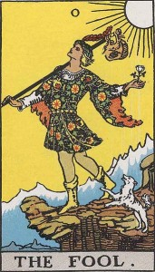 #0 The Fool from the Rider Waite Smith deck