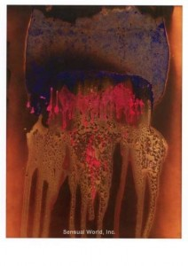 Colored Fire: Blue/Rose by Yves Klein