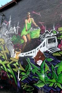 #7 The Chariot from Georgianna Boehnke's Graffiti Tarot (ver.1)