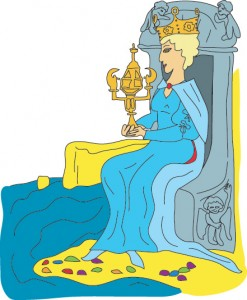 Queen of Cups from Georgie's Tarot