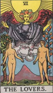 #6 The Lovers from the Rider Waite Smith Tarot