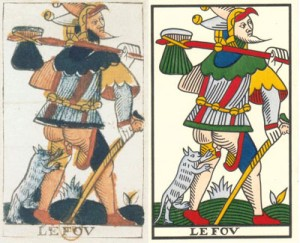 Cards from the Jean Noblet's deck (1650). Tarot of Marseille - Jean Noblet and Jean-Claude Flornoy