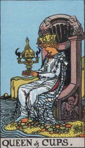 Queen of Cups from the Rider Waite Smith tarot