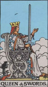 Queen of Swords from the Rider Waite Smith tarot