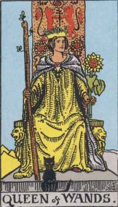 Queen of Wands from the Rider Waite Smith tarot