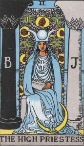 #2 The High Priestess from the Rider Waite Smith Tarot
