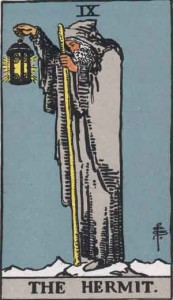 #9 The Hermit from the Rider Waite Smith Tarot