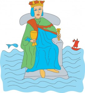 King of Cups from Georgie's Tarot