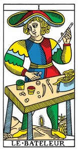 Le Bateleur or The Magician from Yoav Ben-Dov's CBD Tarot