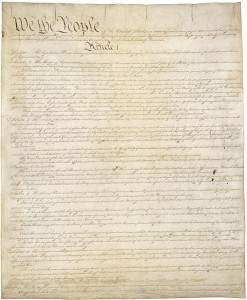 US Constitution - first page, by Constitutional Convention [Public domain], via Wikimedia Commons