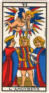 #6 The Lovers from the Tarot of Marseille
