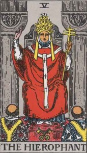 #5 The Hierophant from the Rider Waite Smith Tarot