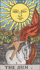 #19 The Sun from the Smith Waith Tarot