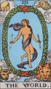 #21 The World from the Smith Waite Tarot