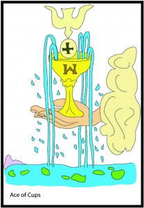 Ace of Cups from Georgie's Tarot