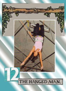 The Hanged Man from The Tabloid Tarot by Georgianna Boehnke