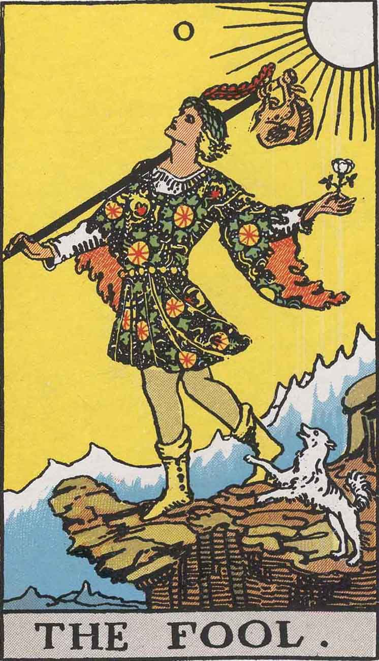 #0 The Fool from the Smith Waite Tarot