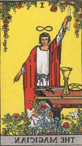 #1 The Magician from the Rider Waite Smith Tarot - in retrograde