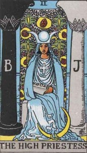 #2 The High Priestess from the Smith Waite Tarot