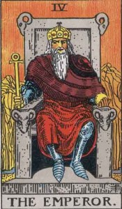 #4 The Emperor from the Rider Waite Smith Tarot