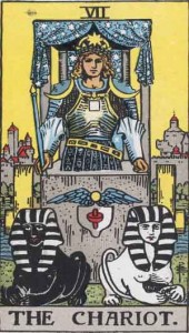 #7 The Chariot from the Rider Waite Smith Tarot