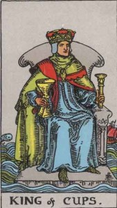 King of Cups from the Rider Waite Smith Tarot