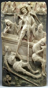 Resurrection of Christ - Alabaster sculpture from the Walters Art Museum