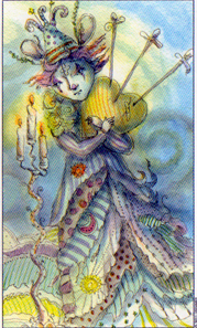 3 of Swords from the Joie de Vivre Tarot by Paulina Cassidy