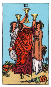 3 of Cups from the Smith Waite Tarot
