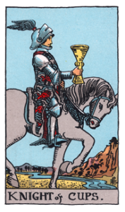 Knight of Cups from the Smith Waite Tarot