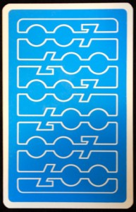 Card Back of James Bond 007 Tarot Deck by Fergus Hall - 1973
