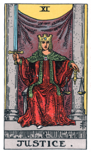 #11 - Justice from the Rider Waite Smith Tarot