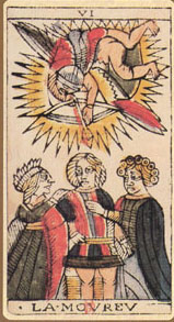 The Lovers from the Tarot of Marseille