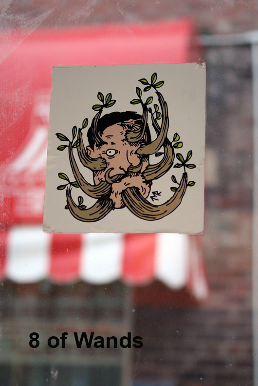8 of Wands - Toronto Graffiti Tarot