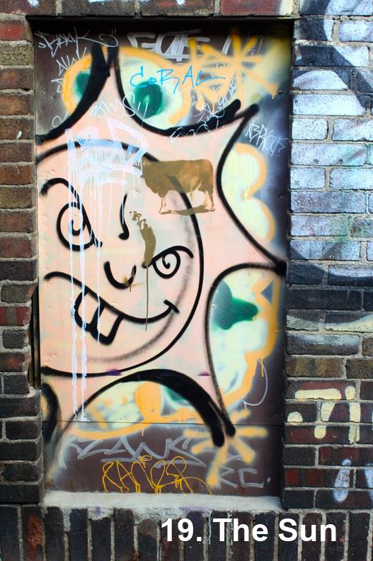 #19 The Sun from the Toronto Graffiti Tarot - draft