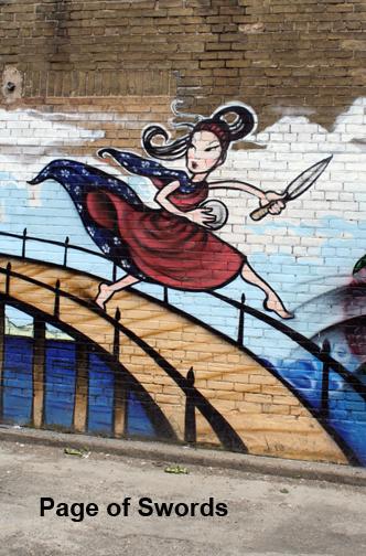 Toronto Graffiti Tarot - Page of Swords